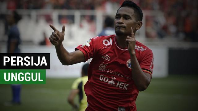 Berita video gol Ramdani Lestaluhu menambah gol untuk Persija pada babak pertama dalam lanjutan Gojek Liga 1 2018 bersama Bukalapak di Cikarang, Sabtu (24/11/2018).