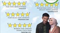 [Cek Fakta] Benarkan Sejumlah Media Berikan Rating ke Film Hanum & Rangga?