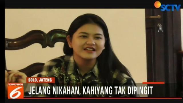 Tinggal seminggu lagi putri semata wayang Presiden Joko Widodo atau Jokowi, Kahiyang Ayu, akan melangsungkan pernikahannya.