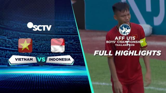 Berita Video Highlights Pertandingan Piala AFF U-15 2019, Timnas Indonesia U-15 Kalahkan Vietnam 2-0