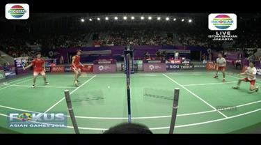 Ganda putra bulutangkis Fajar Alvian-Muhammad Rian Ardianto kalahkan ganda putra peringkat dua dunia asal China.
