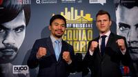 Manny Pacquiao akan berhadapan dengan petinju Australia, Jeff Horn (AFC/Patrick Hamilton)
