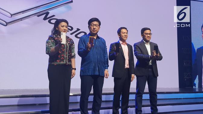 President of Samsung Electronics Indonesia Jaehoon Kwon meluncurkan Galaxy Note 10 di Jakarta, Rabu (21/8/2019). (Sports Unisda.com/ Agustin Setyo Wardani)