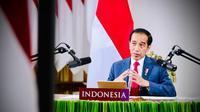 Presiden Joko Widodo atau Jokowi berbicara di World Economic Forum (WEF) Special Virtual on Indonesia dari Istana Kepresidenan Bogor. (Dok Biro Pers Sekretariat Presiden)