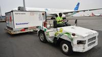 Indonesia kedatangan 8 juta bahan baku (bulk) vaksin Sinovac yang tiba di Bandara Soekarno-Hatta, Tangerang, Banten pada Kamis, 22 Juli 2021. (Dok Kementerian Komunikasi dan Informatika RI)