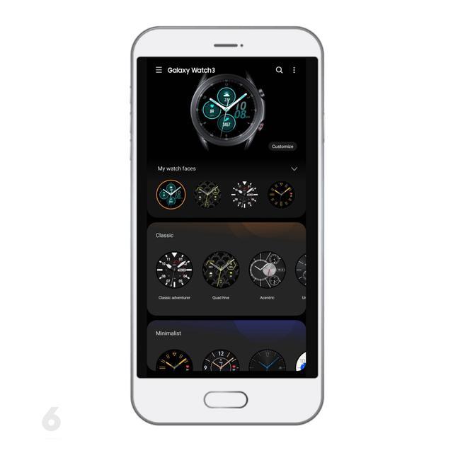 Pilihan Watchfaces Samsung Galaxy Watch3 di Aplikasi Galaxy Wearable. Liputan6.com/Mochamad Wahyu Hidayat