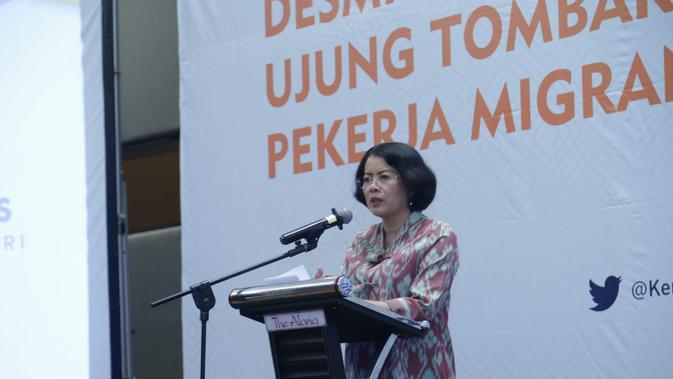 Rosarita Niken Widiastuti mengatakan bahwa program Desmigratif memiliki manfaat besar bagi pekerja migran dan keluarganya.