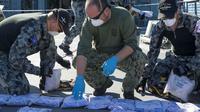 AL Australia menyita dan memusnahkan hampir 1 ton heroin di Laut Arab (sumber: Kemenhan Australia)