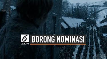Serial Game of Thrones berhasil memecahkan rekor nominasi Emmy Awards terbanyal. GoT tahun ini menyabet 32 nominasi di berbagai kategori Emmy Awards.