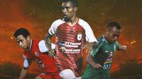 Liga 1 - Ilustrasi Osvaldo Haay, Todd Rivaldo Ferre, Irfan Jaya (Bola.com/Adreanus Titus)