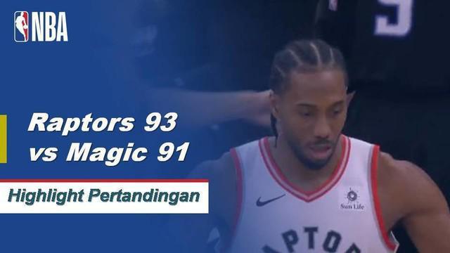 Kawhi Leonard mencetak 18 poin dan Danny Green memakukan jumper turnaround pemenang pertandingan saat Raptors mengalahkan Magic, 93-91.