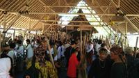 Seren Taun salah satu upacara adat masyarakat akur sunda wiwitan cigugur yang masih lestari. Foto (Liputan6.com / Panji Prayitno)
