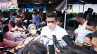 Wali Kota Medan, Bobby Nasution, saat bersilaturahmi dengan para wartawan di Warkop Jurnalis, Jalan S Parman, Jumat (7/5/2021)