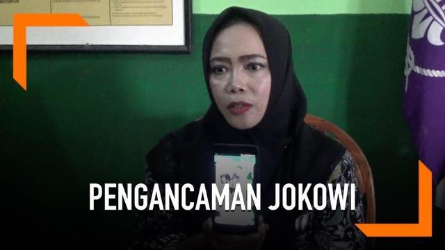 Seorang guru wanita di Sukabumi mengklarifikasi keterlibatannya dalam video pengancaman pada Presiden Joko Widodo. Menurutnya sosok dalam video adalah orang lain. Ia mengaku sedang mengajar saat kejadian.