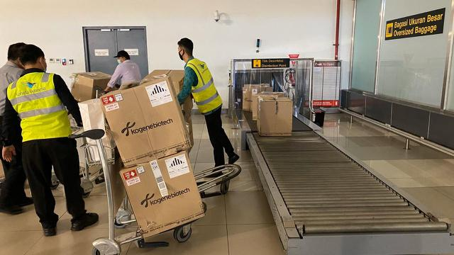 50 Ribu Alat Tes PCR Corona Covid-19 dari Korea Selatan tiba di Indonesia