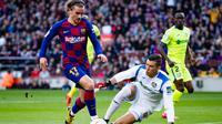 Penyerang Barcelona, Antoine Griezmann saat mencetak gol ke gawang Getafe di Camp Nou, Sabtu (15/2/2020) (Foto: FC Barcelona)