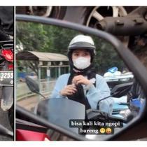 Wanita Memakai Kutek Saat Lampu Merah (Foto: TikTok @thereal_sadboyyy)