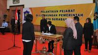 Pelantikan pejabat di lingkungan pemerintah Kota Surabaya pada Senin, 15 Juli 2019 (Foto:Liputan6.com/Dian Kurniawan)