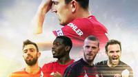 Manchester United - Calon Pengganti Harry Maguire Sebagai Kapten di Manchester United (Bola.com/Adreanus Titus)