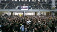 Menko PMK Puan Maharani di tengah forum Kegiatan Awal Mahasiswa Baru (KAMABA) di Universitas Indonesia Tahun 2019, Jumat (23/8/2019) siang di Balairung UI, Depok, Jawa Barat. (Dok Humas Kemenko PMK)