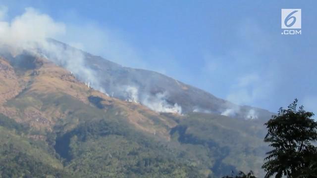 Kebakaran di lereng Gunung Sumbing meluas ke wilayah Magelang. Tim gabungan BPBD, TNI, dan Polri berusaha melakukan penyekatan mencegah meluasnya api