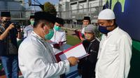 Ratusan napi di Lapas Gunung Sindur Bogor dapat remisi lebaran. (Achmad Sudarno/Liputan6.com)