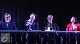 E Ambassador, Sun Jong In, The Mission of the Republic of Korea to ASEAN (kedua kiri) saat jumpa pres Korea ASEAN Cinema Weekend 2016, Jakarta, Jumat (14/10). Festival film ini akan memutar 11 film dari berbagai negara di ASEAN.(Liputan6.com/Herman Z)