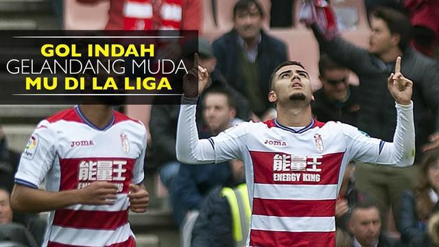 Andreas Pereira, gelandang muda Manchester United yang sedang dipinjamkan ke Granada dan mencetak gol indah