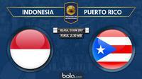 Persahabatan Internasional Indonesia Vs Puerto Rico (Bola.com/Adreanus Titus)