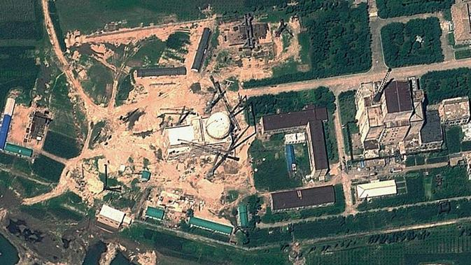 Yongbyon Nuclear Research Centre, Korea Utara (GeoEye Satellite Image/AFP PHOTO via ABC Australia)