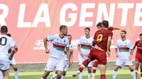 Uji coba AS Roma kontra Ternana di Trigoria, Senin (19/07/2021) dini hari WIB. (Twitter/AS Roma)