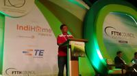 Dian Rachmawan, Direktur Consumer Service Telkom di Ajang FTTH Conference and Exhibition 2015 9Jeko Iqbal Reza/Liputan6.com)