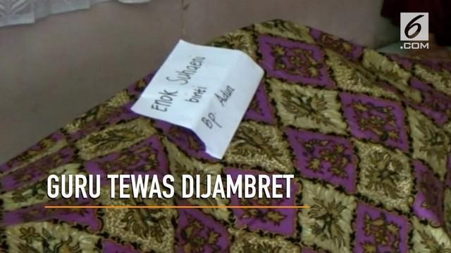Seorang guru tewas setelah menjadi korban jambret di Purwakarta.