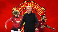 Manchester United - David Moyes, Marouane Fellaini, Juan Mata (Bola.com/Adreanus Titus)