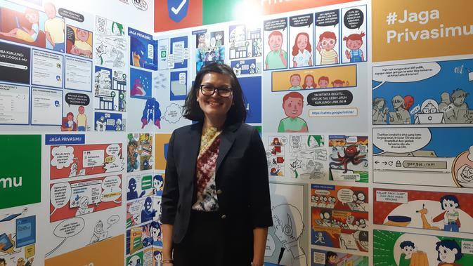 Head of Public Policy Google Indonesia Putri Alam saat ditemui di acara insiatif keamanan dan privasi data Google di Jakarta, Selasa (20/8/2019). Liputan6.com/Agustin Setyo Wardani