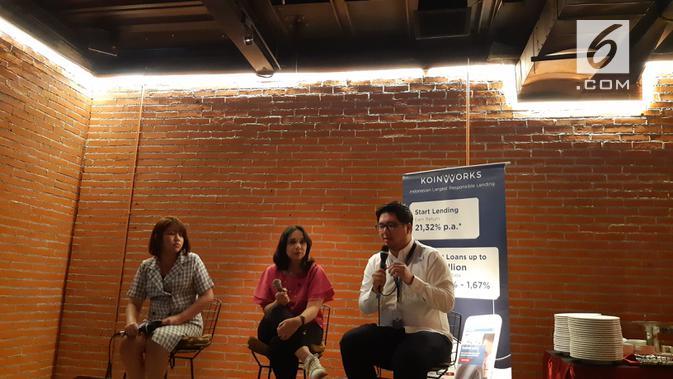 Bincang-bincang seputar investasi bersama dengan KoinWorks (Liputan6.com/ Agustin Setyo W)