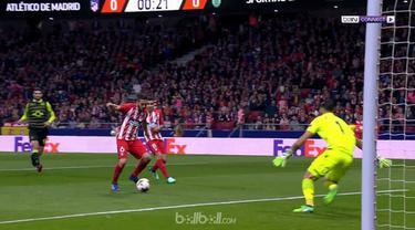 Koke mencetak gol hanya dalam 22 detik pertandingan dimulai saat Atletico Madrid taklukkan Sporting Lisbon 2-0. This video is presented by Ballball.