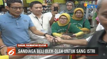 Sandiaga Uno kunjungi pusat perbelanjaan permata terbesar di Kalimantan Selatan.