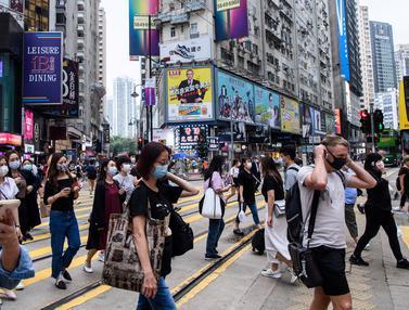 Jalanan Hong Kong yang Ramai di Tengah Laporan Kasus Baru Corona