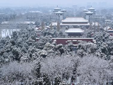 Kota Terlarang di Beijing Tertutup Salju