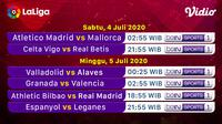 Jadwal La Liga pekan ke-34 di Vidio. (Sumber: Vidio)