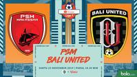 Shopee Liga 1 - PSM Makassar Vs Bali United (Bola.com/Adreanus Titus)