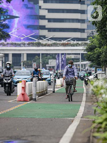 Jalur Sepeda Permanen Bakal Dibongkar