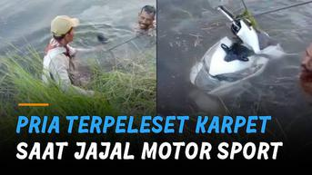 VIDEO: Mancing di Selokan, Warga Malah Dapat Motor Matic