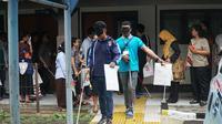 Peserta dari Global Alliance For Justice Education Conference (GAJE) mengikuti kegiatan orientasi mobile (OM) di SLBN A Kota Bandung. (Liputan6.com/Huyogo Simbolon)