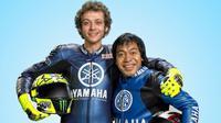 Potret Kebersamaan Komeng dan Valentino Rossi. (Sumber: Instagram.com/volix.media)