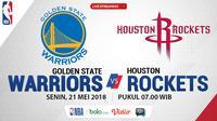 Jadwal NBA, Golden State Warrior Vs Houston Rockets. (Bola.com/Dody Iryawan)