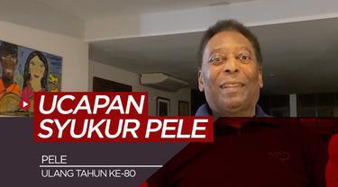 Berita video wawancara singkat bersama legenda sepak bola, Pele di hari ulang tahunnya ke-80
