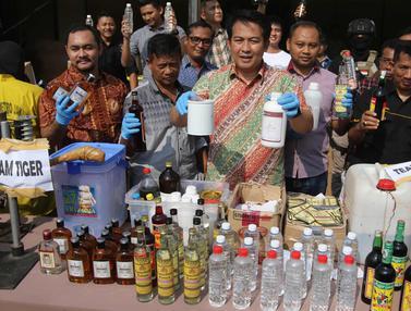 Polisi Sita 4.314 Botol Miras Berbagai Merek