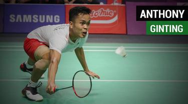 Anthony Sinisuka Ginting duel dramatis pada final bulutangkis beregu putra melawan China, Shi Yuqi Rabu (22/8/2018) di Istora, Senayan.